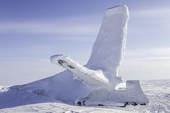 Wreckage of Fairchild F-27J CF-GND (Royal Canadian) Tags: aircraft wreckage arctic resolute nunavut canada snow ice tundra fairchild crash