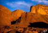 Coucher de soleil sur le djebel Antar / Sunset on djebel Antar - Algérie / Algeria (1980) (christian_lemale) Tags: coucher soleil coucherdesoleil sunset désert desert sahara saoura algérie algéria 1980 غروب الشمس الصحراء ساورة الجزائر جبل عنتر بشار