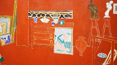 Matisse, The Red Studio (detail)