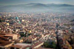 Florence from the top of the Duomo (Photos By Clark) Tags: 170400mm canon1740 canon20d europe italy locale location places where florence tuscany lightroom nik analogefx colorefx architecture city duomo dome