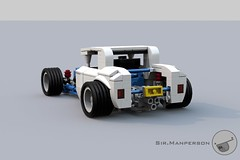 Show Stopper Rod rear 34 - 10-wide - Lego (Sir.Manperson) Tags: lego hot rod lfa engine chassis ldd render yee