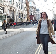 Oxford Street Shoppers (Waterford_Man) Tags: london jeans girl street people candid path