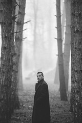 morning fog (Chalo Photography) Tags: boy man male guy sexy portrait awsome blackandwhite monochrome fog forest wood naturallight light georgia tbilisi nikon d600