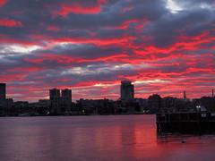 Epic Sunset (WillySit) Tags: boston bostonharbor harbor harbour eastboston pier park loprestipark lopresti sunset sun evening shadow shadows