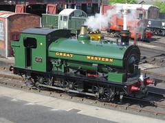 IMG_4790 - GWR Hudswell Clarke Saddle Tank 813 (SVREnthusiast) Tags: didcotrailwaycentre didcot railway centre gwrhudswellclarkesaddletank813 gwr hudswellclarke saddletank 813