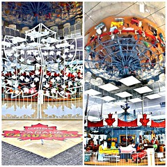 The Gate (L) and the Ceiling (R),  The Pride of Canada Carousel, 8080 Birchmount Road, Markham, ON (Snuffy) Tags: prideofcanadacarousel 8080birchmountroad markham ontario canada level1photographyforrecreation