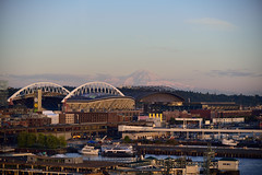 Mount Stadium? (RichSeattle) Tags: richseattle nikon d750 mountrainier mountain seattle stadium field safeco safecofield centurylink centurylinkfield mariners seahawks city sky view skyline