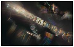 fibre light (pete ware) Tags: silk webthreads diffraction sunlight earlymorning macro photoshop peteware nikond7000 afnikkor50mmf18d composite extensiontubesx3