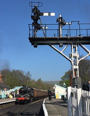 The iPhone to the rescue. (Chris Firth of Wakey.) Tags: standard4mt brsteam 80136 nymr grosmont