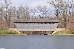 Relic from another time (Jake (Studio 9265)) Tags: mill race park columbus indiana in usa united states america nikon d5000 march 2017 outside spring bridge covered wooden new brownsville clifty outdoor wood sky side view profile