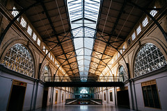 great nave (almostsummersky) Tags: greatnave glass arch building winter hallway windows sanfranciscoferrybuilding light california sanfrancisco ceiling roof architecture terminal travel portofsanfrancisco unitedstates us