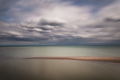 two swans (Marc McDermott) Tags: water lake long exposure swan clouds canada ontario rouge river neutral density 10 stop canon