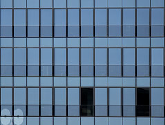 Two (occhio-x-occhio) Tags: abstract watermark blue morning web city oxo rome new smooth architecture wall glass g facade fb flickr