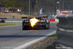 Lamborghini Murciélago R-SV GT1 (belgian.motorsport) Tags: 2011 fiagt fia gt gt1 circuit zolder lamborghini murciélago rsv murcielago flames hot exhaust flaming fire reiter engineering