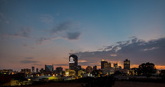 Johannesburg CBD, South Africa (Paul Saad) Tags: night johannesburg lights sunset sunrise dusk dawn nikon city capital sun house clouds cloud sky outdoor street building long exposure skylines morning southafrica pano panorama panoramic