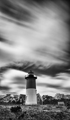 Nauset Light (lburnell34) Tags: nausetlight blackandwhite lighthouse longexposure
