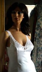 Dressing Room (newslipman63) Tags: fullslip white slip mannequin model schaufensterpuppe hindsgaul maxime 6261 nylon 70s 80s