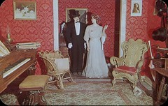 Fancy Rooming Parlour,  Pikes Peak Ghost Town, Colorado Springs, Colorado (SwellMap) Tags: postcard vintage retro pc chrome 50s 60s sixties fifties roadside midcentury populuxe atomicage nostalgia americana advertising coldwar suburbia consumer babyboomer kitsch spaceage design style googie architecture waxmuseum effigy figurine