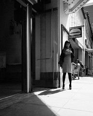 Convergence (Tim Roper) Tags: paloalto streetstyle fashion style street monochrome black white blackandwhite sun shadows low key