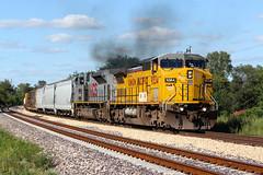 Smoke em.. (Machme92) Tags: railroad sky clouds grain tracks rail trains rails ge railroads emd railfanning railfans trainrace