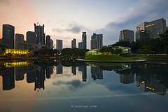 KLCC Symphony Lake (Landscape Junkie) Tags: lake reflections cityscape malaysia kuala symphony klcc lumpur sigma1020mm leefilters nikond90 landscapejunkie