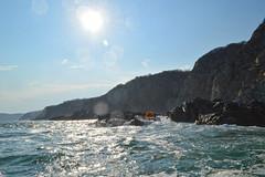 SAT GLORY  MAG CHRIST (toltequita) Tags: sea sky sun sol water mexico mar agua waves stones cielo oaxaca olas piedras huatulco visithuatulco visistmexico