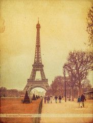 Un peu de Paris (in eva vae) Tags: city winter paris france art monument architecture vintage arte monumento toureiffel francia architettura textured parigi inevavae