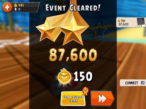 Angry Birds Go! Level Completed: screenshots, UI