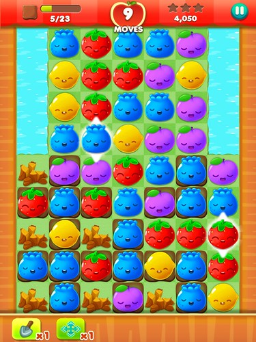 Fruit Splash Mania Heads-Up Display: screenshots, UI