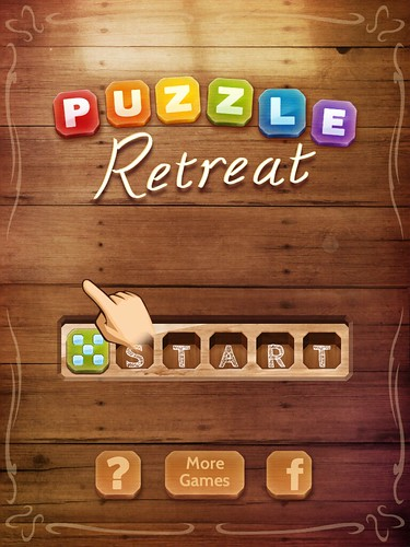 Puzzle Retreat Main Menu: screenshots, UI