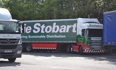 H5923 - PE11WOR - Corbie Jayne; Stirling Motorway Service Area, M9 Junc 9; 16-05-2014 (Graeme's Truck Pics) Tags: stirling scania eddiestobart
