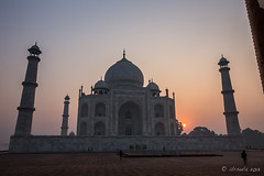 Taj Sunrise_7850 (Ursula in Aus - Away Travelling) Tags: india architecture taj tajmahal unesco uttarpradesh earthasia