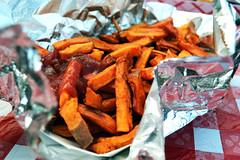 YUM (nisharatanpara) Tags: food ketchup sweet fair potato fries