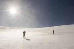 Windy morning (sylweczka) Tags: snow ski mountains alps switzerland tour glacier skitour rheinwaldhorn zervreila sylweczka lntahtte adula