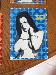 Stencil on priority mail stickers :) #stencil #sticker #slaps #usps (SCI.) Tags: stencil sticker usps slaps