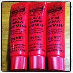 LUCAS PAPAW Ointment 25g. ลิปหลอดแดง บาล์มมะละกอสุดฮิตจากออสเตรเลีย บาล์มสารพัดประโยชน์ , LUCAS