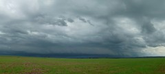 (IgorCamacho) Tags: autumn brazil panorama storm nature paran field weather brasil clouds natureza southern nubes tormenta nuvens campo agriculture tempo outono sul temporal severe panormica tempestade agricultura severo shelfcloud
