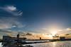 Suset in the Salinas (Alessandro Vecchi) Tags: sunset sea italy water colors colorful europa europe italia tramonto mare colore sale salt sicily acqua colori saline sicilia salina trapani windmil mulini saltevaporationpond