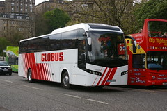 LANDTOURER COACHES, FAREHAM BT63UVH (bobbyblack51) Tags: volvo edinburgh coaches jonckheere fareham globus 2014 landtourer b11r bt63uvh