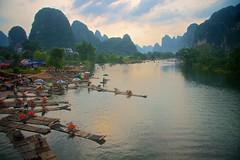 IMG_9437 2007_07_11 China Guilin (anthonymaw) Tags: china travel tourism river landscape hills limestone raft karst anthonymaw