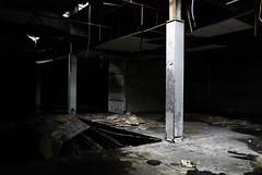 Pillars (undergroundoverdrive) Tags: abandoned mall square photography photo ruins pillar ruin indiana photograph pillars omar dixie photograhper rashan