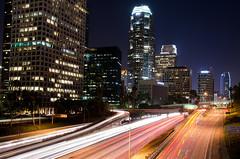 DSC_0195 (bherrero13) Tags: california city longexposure nightphotography skyline night buildings la losangeles nikon downtown cityscape citylights downtownla downtownlosangeles 110freeway nikond5100