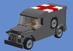 Dodge WC54 Ambulance LDD (Dutch Bricks) Tags: world red two dutch us war cross lego bricks wwii ambulance ww2 dodge medic wo2 woii wc54