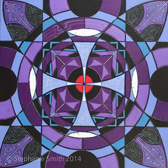 "IMG_0935 (Stephanie ""Biffybeans"" Smith) Tags: blue red art painting artist purple geometry vibrant modernart mandala selftaught sacred meditation spirituality psychedelic lehighvalley visionary stephaniesmith transformational sacredart sacredgeometry visionaryartist personalgrowth bananafactory biffybeans"