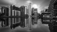 Pan Peninsula (vulture labs) Tags: longexposure blackandwhite london skyscraper reflections cityscape pan canarywharf peninsula neutraldensityfilter vulturelabs
