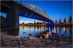 John Frostbrug Arnhem revisited (nldazuu.com) Tags: bridge water river arnhem bridges bluehour brug rijn landschap gelderland rivier zonsondergangen oudebrug rijnbrug johnfrostbrug blauweuur blauwuur blauwekwartier burgerlijkeschemering