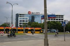 Bank BPH (pasa47) Tags: june europe tram poland transit warsaw easterneurope warszawa pl 2014 masovianvoivodeship