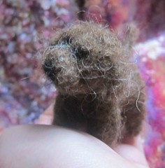 needle felted brown dog