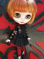 Alice Pandemonium (*phillaine*) Tags: punk doll panda doors antique spice goth handpainted blythe custom takara cassiopeia eyechips