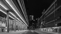 Old And New Rotterdam (Mabry Campbell) Tags: street new old light blackandwh